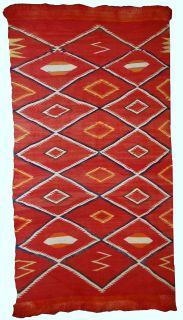 Handmade Native American Navajo blanket, 1B557