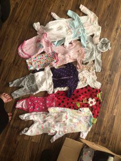 NB 0-3 month girl lot EUC