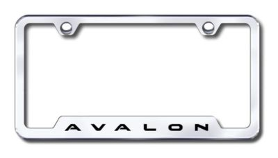 Buy Toyota Avalon Engraved Chrome Cut-Out License Plate Frame Made in USA Genuine motorcycle in San Tan Valley, Arizona, US, for US $31.19