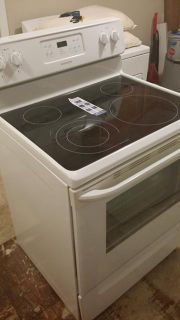 $400, white Frigidaire stove flat top