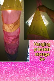 Hanging princess storage