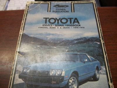 Buy Toyota Corona MARKII Celica 1970 -1978 Clymer SERVICE/REPAIR/HANDBOOK A192 motorcycle in Golden Valley, Arizona, United States, for US $4.68