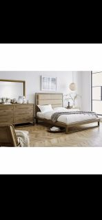 NEW! UPSCALE / LUXURIOUS SOLID QUALITY WOOD PLATFORM BED SET! BY M. INTERNATIONAL