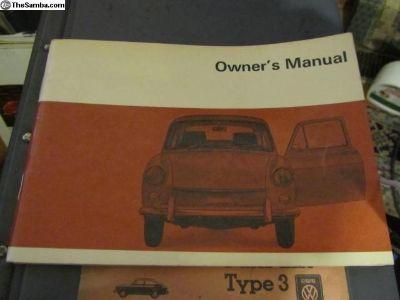 Owner's Manual Type 3 1969:NOS