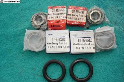 Set Of 4 New Front Wheel Brgs. & Seals