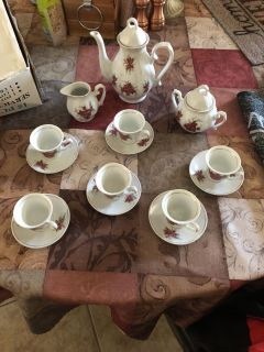 Beautiful porcelain tea set