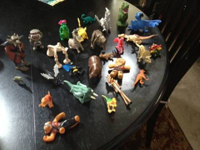 this lot of dinos animals and etc.