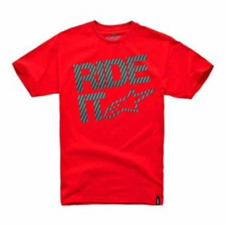 Purchase ALPINESTARS RIDE IT CARBON FIBER CLASSIC ADULT COTTON TEE/T-SHIRT,RED,MED/MD motorcycle in Holland, Michigan, US, for US $18.97