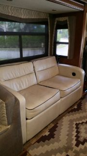 RV reclining loveseat with full size hide a bed