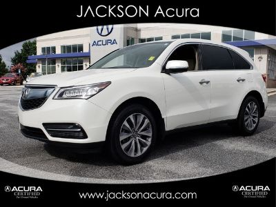 2016 Acura MDX TECH & ACURAWATCH (PEARL WHITE)