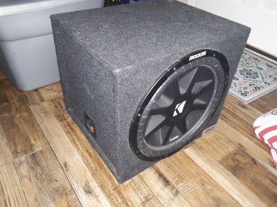 15inch Kicker Comp subwoofer with sealed box