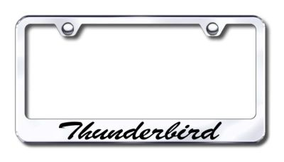 Find Ford Thunderbird Script Engr. Chrome License Plate Frame LFS.THU.EC Made in USA motorcycle in San Tan Valley, Arizona, US, for US $30.98