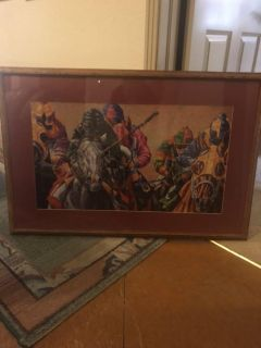 Large framed puzzle picture