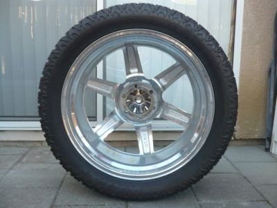 Set of 5 Rims, Wheels, and Tires