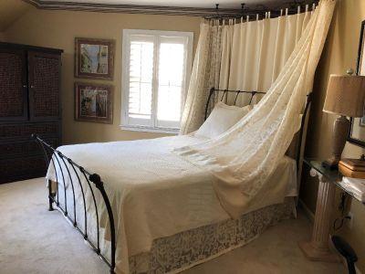 Queen set w/ bedspread, euro shams, drapes, dust ruffle