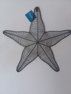 BEAUTIFUL METAL STARFISH. NEW WITH THE TAGS ON IT !