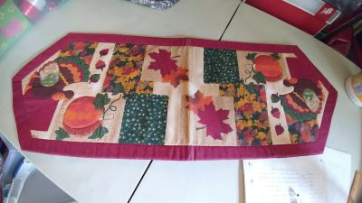 """Quilted Table Runner - EUC - 37"""" L x 13"""" W"""
