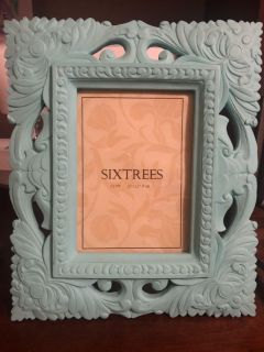 Turquoise picture frame - heavy!