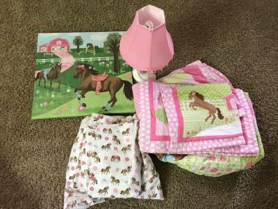 Bedding set and decor from Target