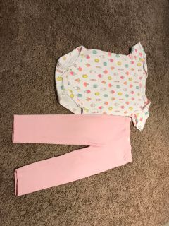 Girl s Top and Pants. 24M/2T.