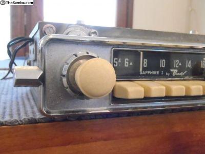 1964 Ivory Sapphire I AM, 6V Radio - Restored