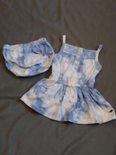 Carter's tie dye dress with diaper cover size 6 months P U ONLY