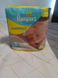 New pack of Pampers
