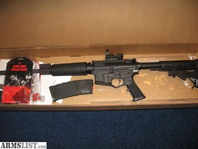 For Sale: ATI AR 15 like new with reflex sight.