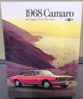 Find 1968 Chevy Camaro Brochure Hugger SS RS Rare R-1 Limited Ed Front Rainbow Stripe motorcycle in Holts Summit, Missouri, United States, for US $34.68