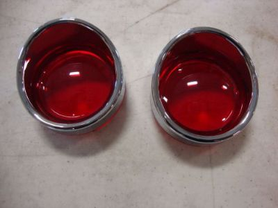 Buy BIG DOG TURN SIGNAL RED LENS PAIR VISOR W/ SIDE MARKER FRONT OR REAR K-9 motorcycle in Lyons, Kansas, United States