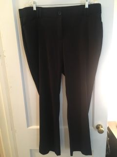 Maurices black slim boot dress pants