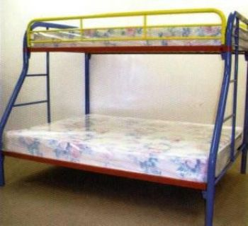 $169, GREAT DEAL  Metal frame twin over full bunk beds