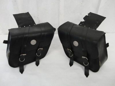 Purchase Willie & Max Deluxe Series Compact Slant Style Leather Saddlebags 0003 motorcycle in Kittanning, Pennsylvania, US, for US $9.99