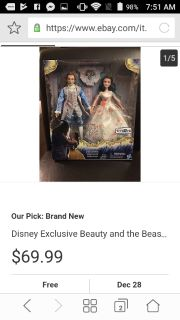 Disney Exclusive Beauty and the beast barbie doll set
