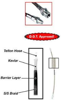 Steel Braided Brake Hose Kit (4)