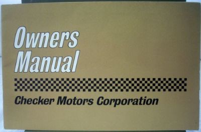 Purchase 1963 Checker Motors Corporation Owner s Manual motorcycle in Holts Summit, Missouri, United States, for US $39.63