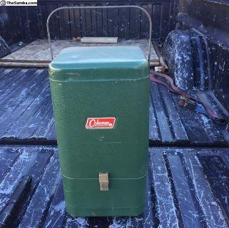 Vintage Coleman Lantern with metal case 1959