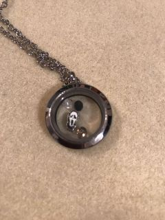 Scream- Ghost Face- floating locket and charms- brand new