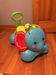 Fisher Price 3-in-1 Bounce,Stride,Ride Elephant