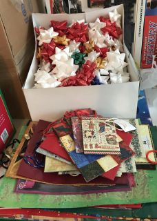 Lot of Christmas bags and bows