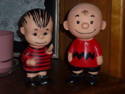 Antique Charlie Brown & Linus Figures