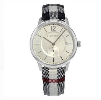 Burberry Silver Dial Stainless Steel Textile Quartz Men's Watch BU1000