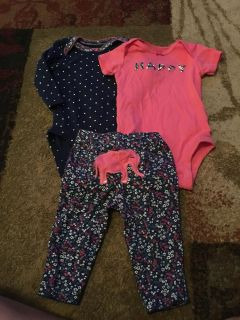 Carters 3m onesies & pants - ppu (near old chemstrand & 29) or PU @ the Marcus Pointe Thrift Store (on W st)