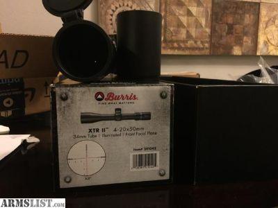 For Sale: Burris 4-20x50