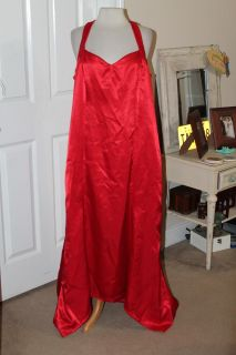 $45 Red formal gown, size 16