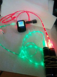 Light up power cords for phone's & MP3s players