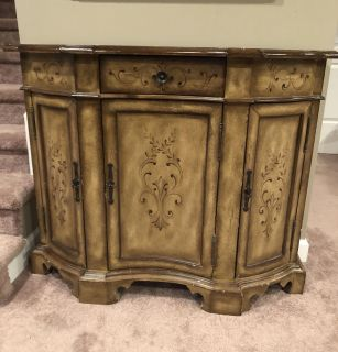 Wood accent cabinet