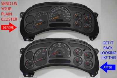 Purchase CUSTOM TRUCK INSTRUMENT ODOMETER CLUSTER GAUGE DASH PANEL UPGRADE+ ESCALADE TRIM motorcycle in Putnam, Connecticut, US, for US $225.00