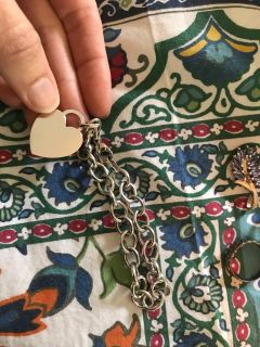 White gold bracelet with heart charm