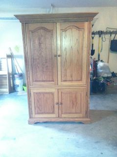 $300, TV all wood cabinet $300